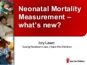 Neonatal mortality measurement   wh...