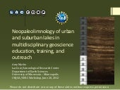 Neopaleolimnology of urban and suburban lakes in multidisciplinary geoscience education, training, and outreach
