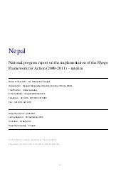 Nepal national hfa progress 2009 11