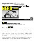 Nerd Presentations are Boring - Supplemental Learning Guide