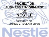 Nestle Economic Envirnment