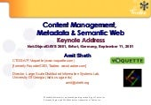 Content Management, Metadata and Se...