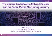 The missing link between Network Science and the Social Media Monitoring industry