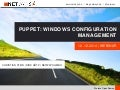 Puppet: Windows Configuration Management (Webinar vom 12.12.2014)