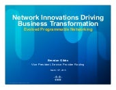 Network Innovations Driving Business Transformation