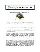 Successful and Rich 101