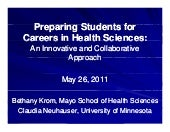 Preparing Students for Careers in H...