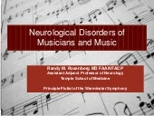 Neurological disorders of musicians...