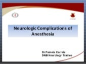 Neurologic complications of anesthesia