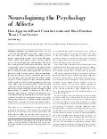 Neurologizing the psychology of affects