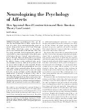 Neurologizing the psychology of aff...