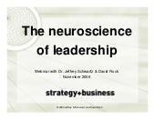Neuroscience Of Leadershp Webinar