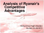 Analysis of Ryanair's  Competitive ...