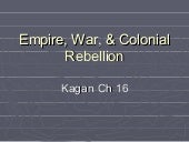Empire, War, & Colonial Rebellion