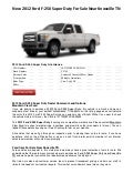 New 2012 Ford F-250 Super Duty For Sale Near Knoxville TN