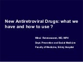 New antiretroviral drugs