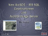 New Arc Sde – Ms Sql Geodatabases