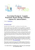 New autism treatment   complete hyperbaric oxygen therapy treatment options for autism patients
