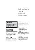 Newborn Care: Skills workshop Clinical notes and observation