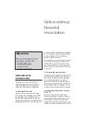 Newborn Care: Skills workshop Neonatal resuscitation