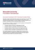 Newcastle University - Scholarships 2012-13