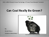 Coal bed methane and underground co...