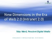 New Dimensions In Web 2.0: Intranet...