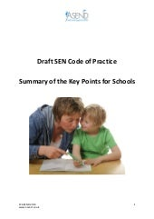 Draft SEN Code of Practice - Summar...
