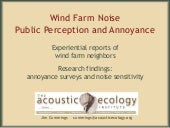 Wind Farm Sounds: Public Perception...