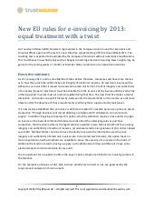 New Eu Rules For E Invoicing By 201...