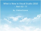 New Features for Visual Studio 2010...