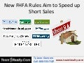 New FHFA Rules Aim to Speed up Short Sales  Ty Leon Guerrero of Team1Realty Fairfield CA