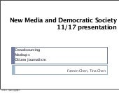 New media and democratic society 11...