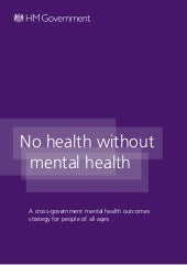 New UK Mental Health Strategy 2011