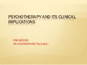 psychotherapies in psychiatry