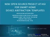 New Open Source project at HGI for SmartHome Device Abstraction Templates - A Kraft