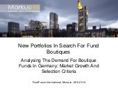 New Portfolios In Search For Fund B...