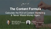 The Content Formula: Calculate the ROI of Content Marketing & Never Waste Money Again