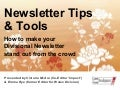 Newsletter Tips & Tools