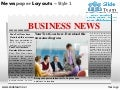 News on newspaper layouts style design 1 powerpoint presentation slides.