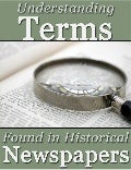 Newspaper terms-terminology-genealogy-cheat-sheet