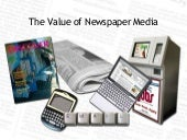 Newspaper valueproposition