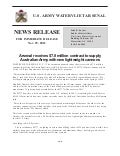 News release:  Watervliet Arsenal secures $7.8 m contract - Nov. 29, 2012