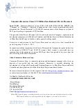News Release:  Close of $7.5 Million Private Placement