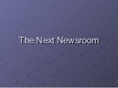 Newsroom Of The Future