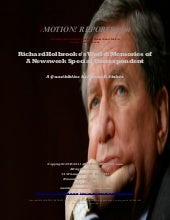 Richard Holbrooke's World: Memories of a Newsweek Special Correspondent - A Quasibiblios by Myron D. Stokes