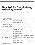 New Tools for your Marketing Technology Arsenal