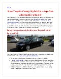New Toyota Camry hybrid is a top five affordable vehicle!