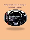 New toyota safe driving tips