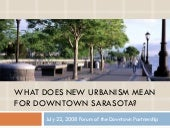 New Urbanism For Sarsota